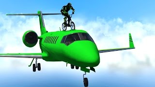 BMX RIDING ON PLANES! (GTA 5 Funny Moments)