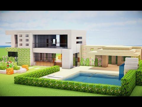 Minecraft tutorial como fazer uma casa moderna for Tutorial casa moderna grande minecraft
