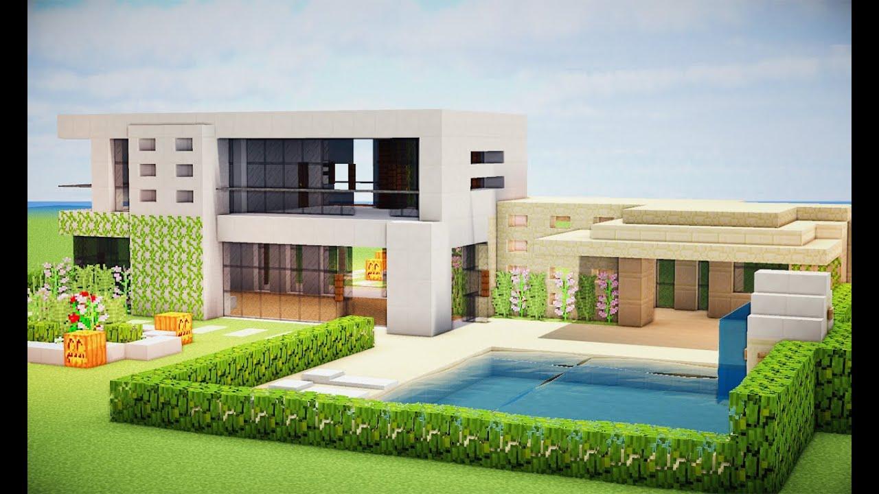 Minecraft tutorial como fazer uma casa moderna for Casas modernas minecraft keralis