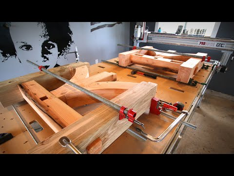 Dining Room Table from CNC Milled Logs - pt. 2/3