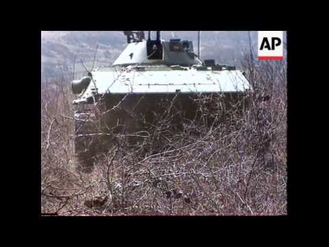 BOSNIA: BOSNIAN ARMY FIRST CORPS, TANK TRAINING EXERCISES