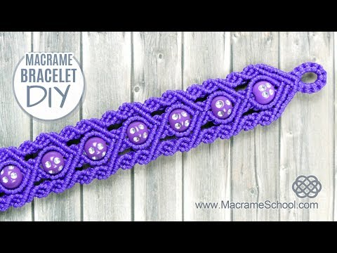 Purple Rain Micro-Macrame Bracelet with Beads | Tutorial