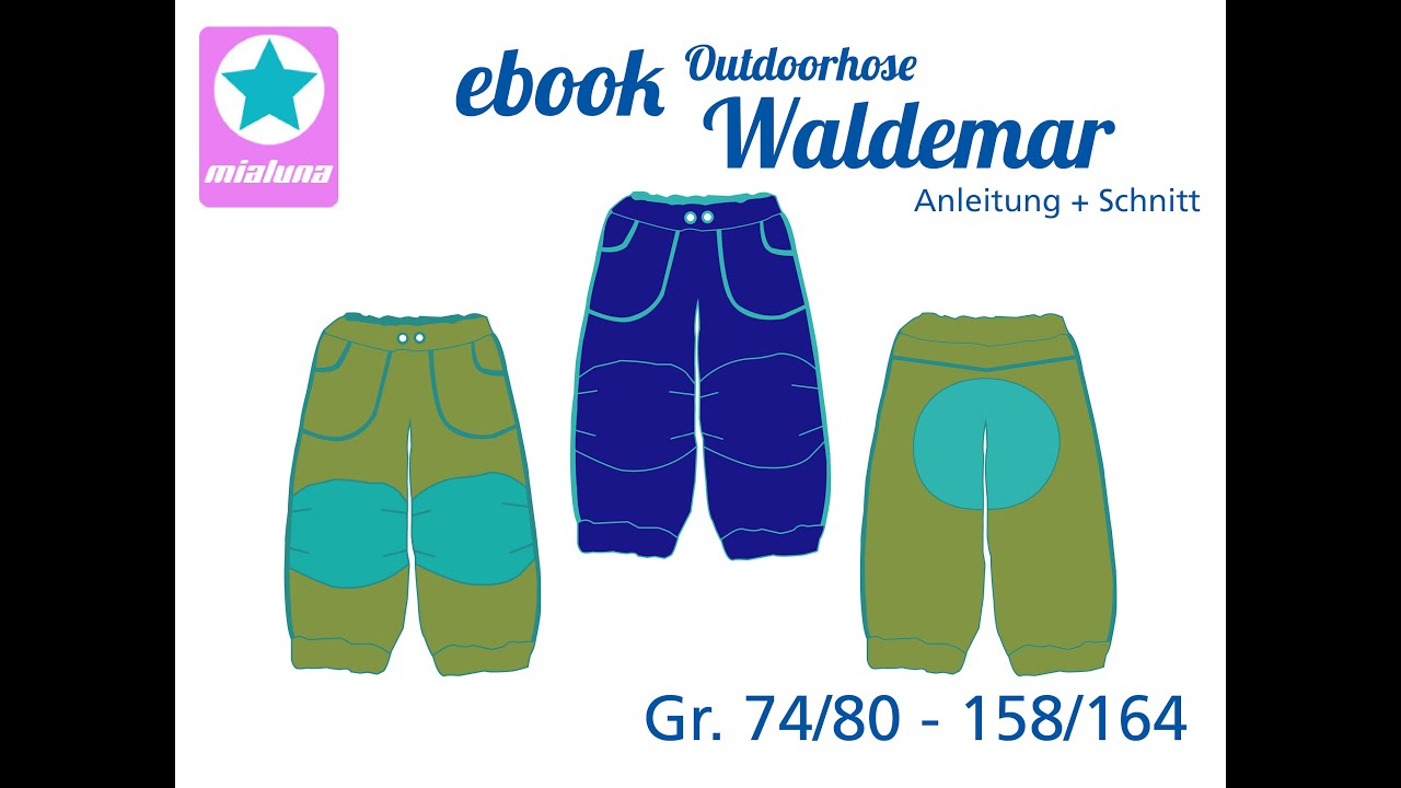 Nähanleitung Outdoorhose Waldemar - YouTube