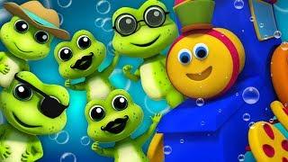 Kids Tv Deutschland - Fünf kleine gesprenkelte Frösche   Bob der Zug   Five Little Speckled Frogs