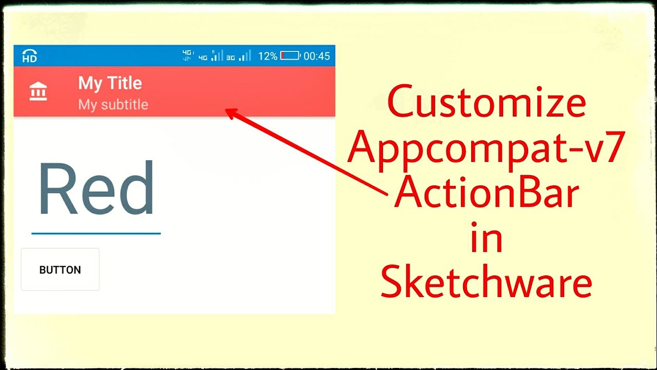 Codes for modifying Action Bar in Sketchware