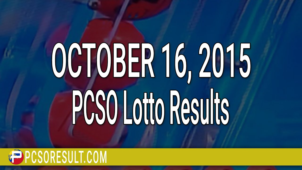 PCSO Lotto Results October 16, 2015 (6/58, 6/45, 4D, Swertres & EZ2) - YouTube