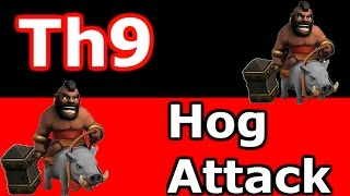Clash Of Clans - Surgical GoHog vs Maxed Defenses Th9 War Base