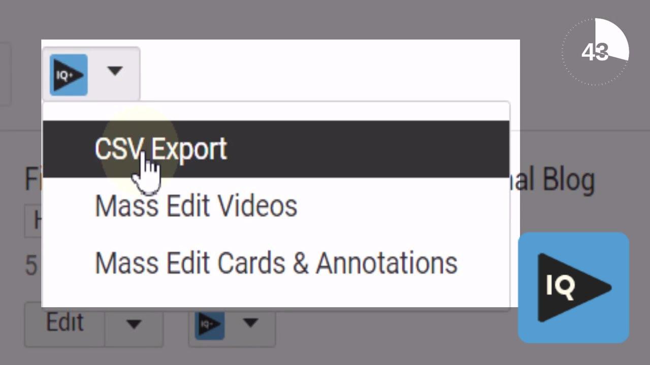 Csv export youtube скачать