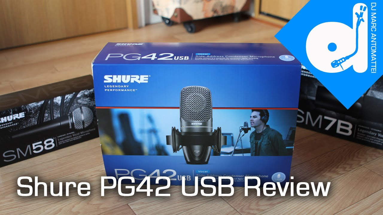 shure pg42 usb microphone review test tdmas youtube. Black Bedroom Furniture Sets. Home Design Ideas