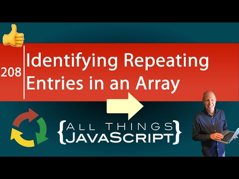 JavaScript Problem: Identifying Repeating Entries In An Array