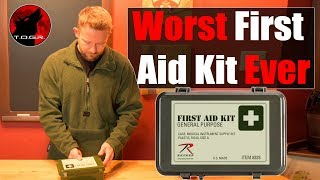 Serious Waste of Money! - Rothco General Purpose First Aid Kit