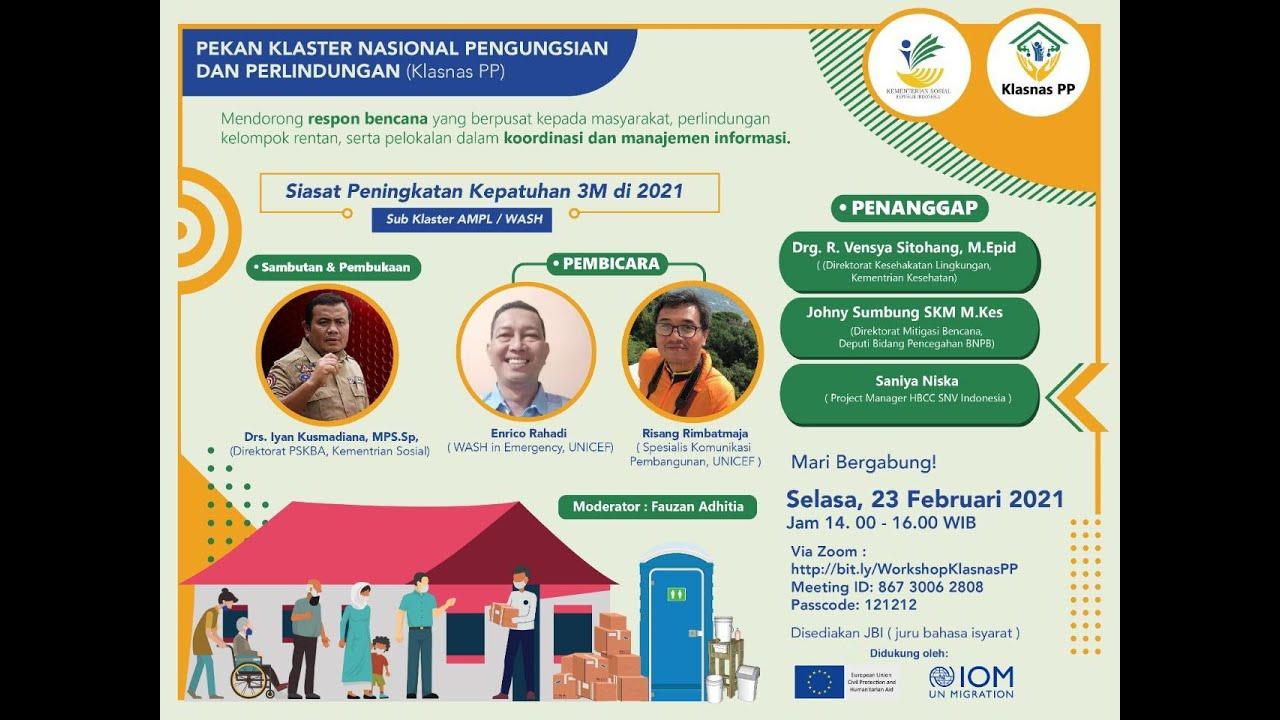 Dialog Penanganan Bencana di Indonesia   Klasnas PP : Sub Klaster Air Minum & Penyehatan Lingkungan
