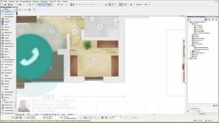 Дизайн дома (квартиры) в Archicad 05/26 - чертим план дома 5