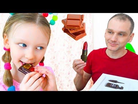 Лиза и папа - истории для детей про вредные сладости и конфеты