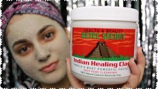 BEST MASK EVER! Aztec Secret Indian Healing Clay Review + DEMO   Amy Ali