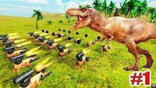 СИМУЛЯТОР БИТВЫ ЖИВОТНЫХ!!! БОЕВЫЕ СВИНЬИ!!! ФУТБОЛ!!! Beast Battle Simulator!!! (1 серия)
