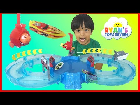 Thumbnail: Zuru Micro Boats Racing Track Playset Toy for Kids Shark Attack Water Toys Disney Finding Dory Nemo