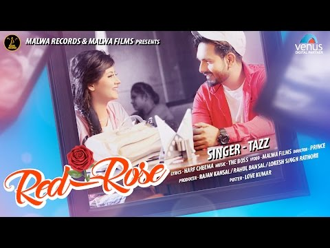 TAZZ - RED ROSE - TEASER    LATEST ROMANTIC PUNJABI SONG 2017    MALWA RECORDS