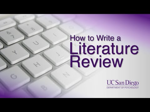 How to Write a Literature Review | Writing Research Papers | UC San Diego Psychology