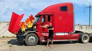 O caminhão grande está quebrado - Dima andar de avião para ajudar o homem