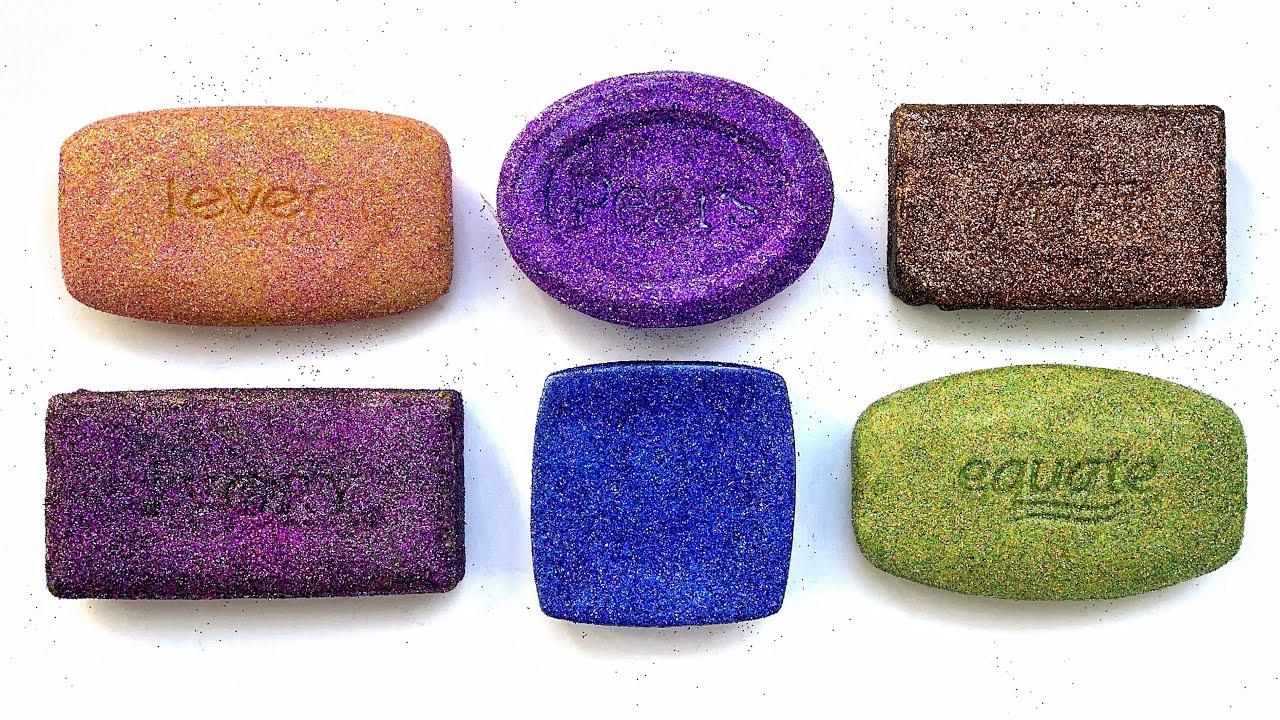 Glittery Soft Soap Cutting ASMR - Relaxing Sounds