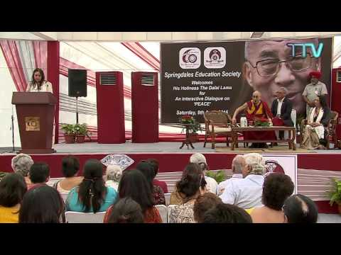 His Holiness visits Springdales school, New Delhi