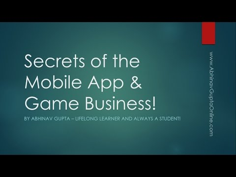 Free Webinar Secrets Of The Mobile App And Game Business (www.AppDevToolkit.com)