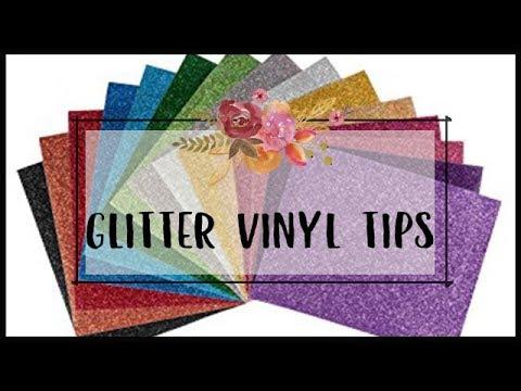 Cricut Glitter Vinyl Tips Youtube