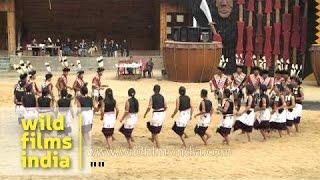 Folk dance performed by Angami Naga tribe, Nagaland