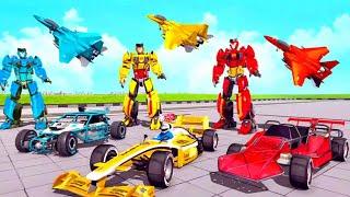 Air Jet Robot Transform Formula Car Robot Games android gameplay screenshot 4