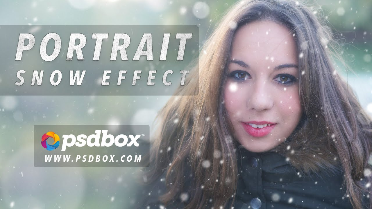 Snow effect on portraits photoshop tutorial psd box youtube snow effect on portraits photoshop tutorial psd box baditri Image collections