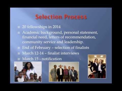 2014 Rangel Graduate Fellowship Webinar 12/10/13