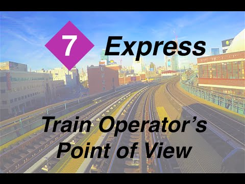 ⁴ᴷ NYC Subway Train Operator's Point of View - The Manhattan-Bound 7 Express Line