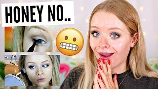FOLLOWING MY FIRST EVER MAKEUP TUTORIAL.. FFS 😂😫 | sophdoesnails