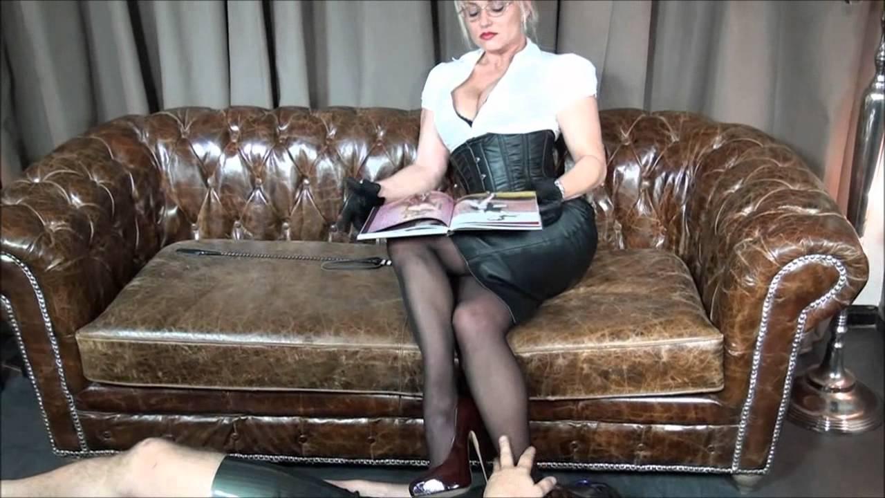 Mistress Cynthia Domina Heels Leather & Latex - YouTube