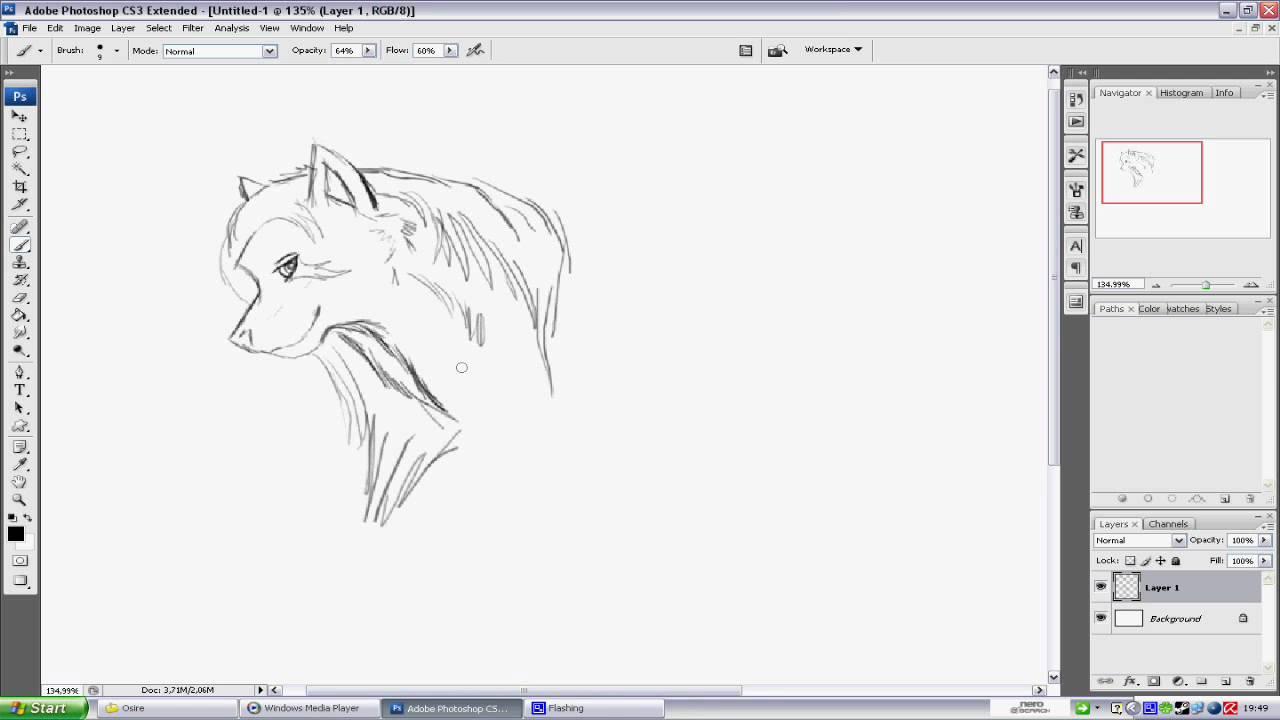 Rychla Kresba Vlk Youtube