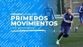 Primeros entrenamientos de Messi con Argentina