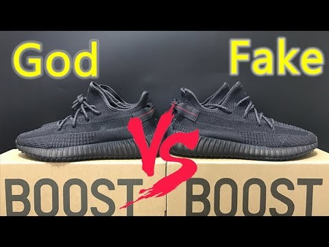 dedfc9ed26c Real VS Fake Yeezy Boost 350 V2 Black Static Non Reflective
