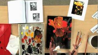 Preview | Paint Dramatic Acrylic Flowers with Mark Mehaffey
