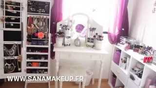 Room Tour & Mes rangements Make-Up - makeup Collection⎮SANAMAKEUP