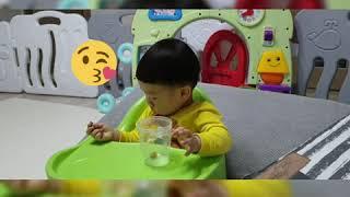 15개월아기 고구마말랭이 간식먹기