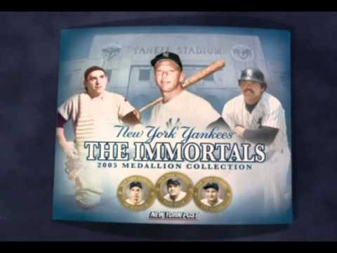 """2005 NY Yankees """"The Immortals"""" Medallion Collection"""