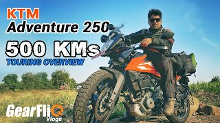 KTM Adventure 250 - 500 KM Touring Overview - Hindi | GearFliQ