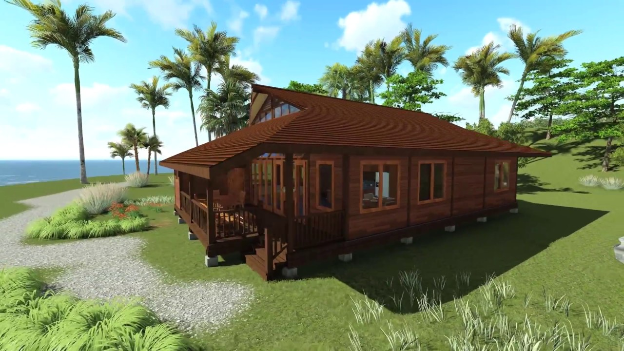 Tropical house designs teak bali tanglewood 3d walk for 3d walk through house