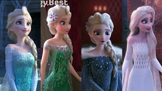 Elsa's all transformation and dresses+Frozen 2🔥  Dress transformation   Elsa dress   Elsa  