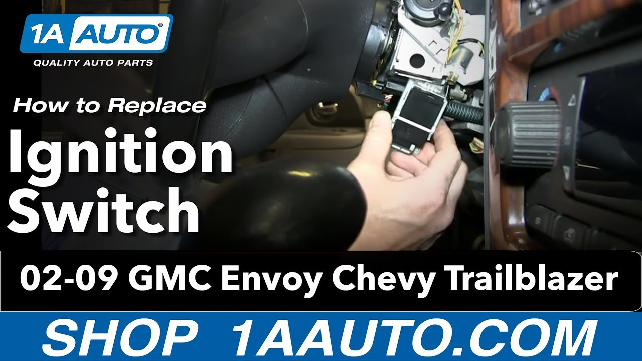 How to Replace Ignition Starter Switch 0206 GMC Envoy XL  YouTube