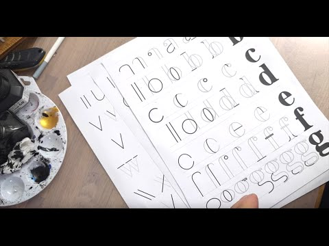 Hand Lettering For Beginners - Serif Lowercase