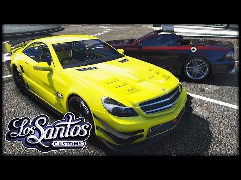 GTA 5 TUNING #15 | Mercedes-Benz SL 63 AMG - Deutsch - Grand Theft Auto 5 LOS SANTOS CUSTOMS