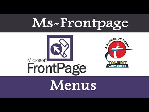 Microsoft Office FrontPage 2019 Add A Dropdown Box Or Menu To A Form