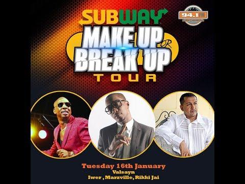 Subway Make Up or Break Up Tour Episode 2 -  Iwer, Marzville, Rickki Jai